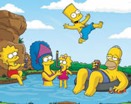 Puzzle of the simpsons on vacation puzzle játékok ingyen