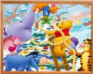Sort my tiles christmas Winnie puzzle j�t�kok