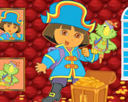 Sort my tiles Dora the pirate puzzle j�t�kok