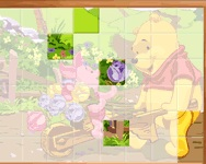 Sort My Tiles Pooh and Piglet online játék