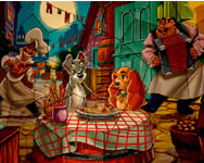 Puzzle mania Lady and the Tramp online játék